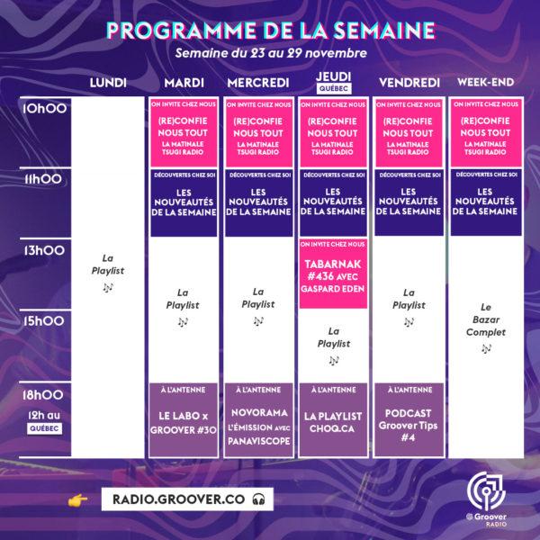 Groover Radio programme semaine programmation radio musique promouvoir sa musique