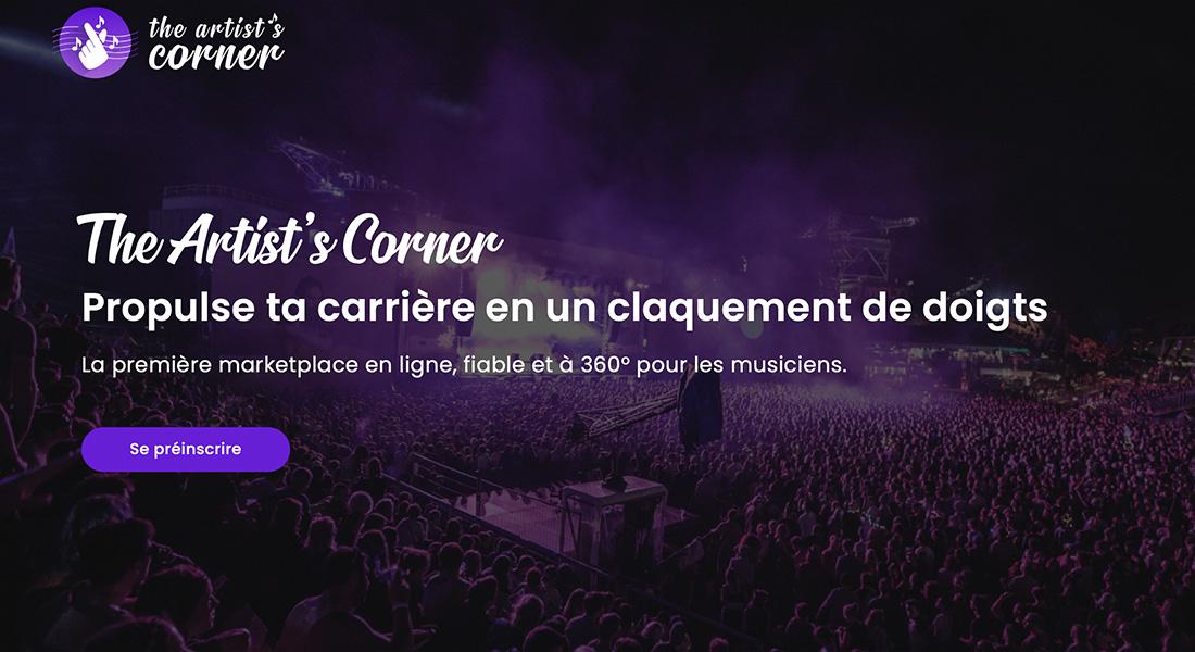 The Artist's Corner marketplace industrie musicale Groover Irmawork Malt prestataire service artiste musique