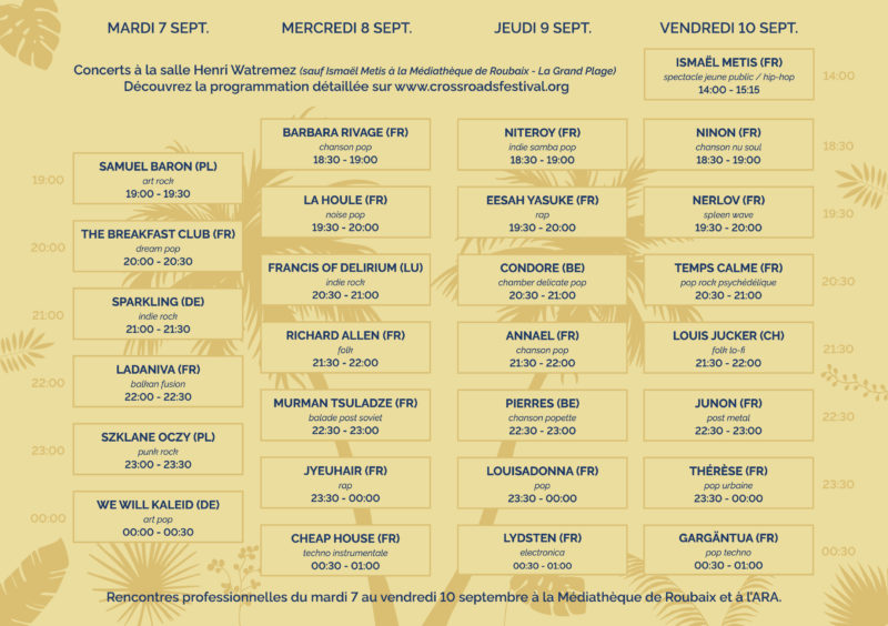 Crossroads Festival 2021 - Line-up