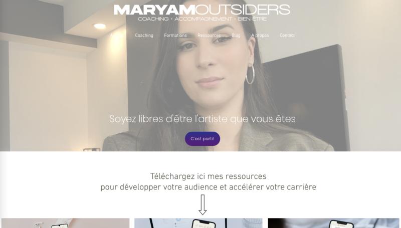 Extrait site Maryam Outsiders